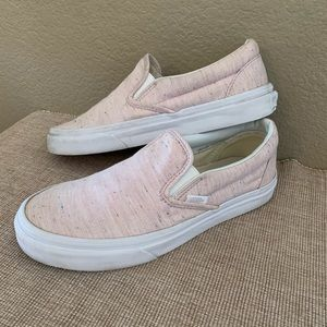 VANS slip on casual pink sneakers no lace 7.5